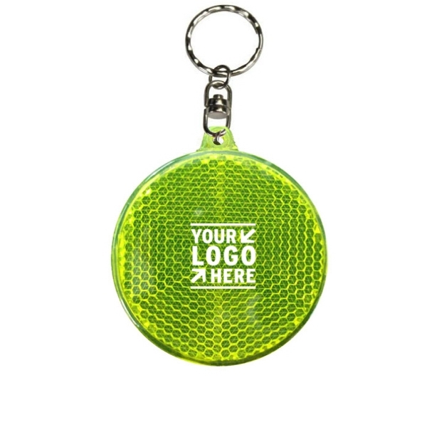 Safety Reflector LED Keychain