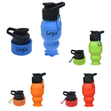 18 Oz. Collapsible Silicone Water Bottle