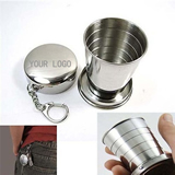 2 Oz. Mini Folding Travel Cup With Keychain