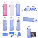 20 Oz. Foldable Silicone Bottle