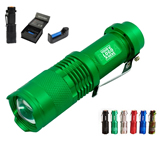 3 Piece Set Zoom 14500 Rechargeable Led Flashlight
