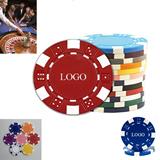 6-Stripe dice striped poker chips
