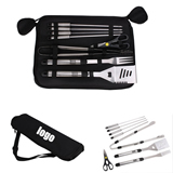 8 Pieces Stainless Steel BBQ Set