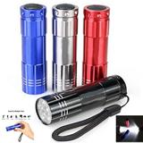 9 led Mini Aluminum Flashlight
