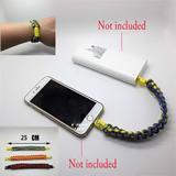Bracelet with charge cable