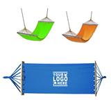 Canvas Hammock with Wooden Stick