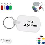 Circle Cape Rectangular PVC Key Tag