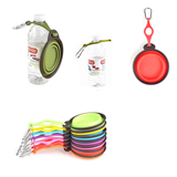 Collapsible Pet Bowl with Bottle Holder and Carabiner