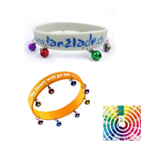 Debossed Silicone Bracelet With Bell