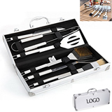 Deluxe 6 Piece Stainless Steel BBQ Tool Set