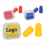 Ear plugs in snap travel case