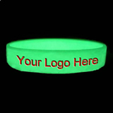 Embossed And Glow in the dark Silicone Wristband