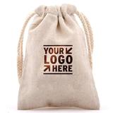 Flax Drawstring Bag