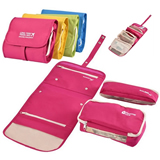 Foldable polyester toiletry kit