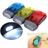 Hand crank power flashlight