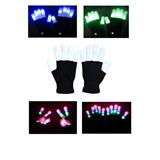 LED Flashing Finger Lighting Gloves