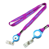 Lanyard With Round Retractable Badge Reel