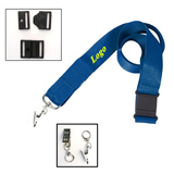 Lanyard with Metal Bulldog Clip and Snap Buckle Release