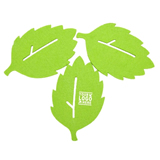 Leaf Shape Felt Coaster