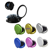 Mini Folding Pocket Hair Comb with Mirror