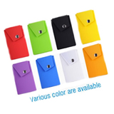 NEW version Silicone phone wallet with clip
