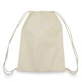 Natural Cotton Canvas Drawstring Backpack