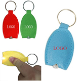PU Leather LED Keychain