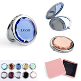 Pocket Crystal Folding Makeup Mirror