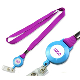 Polyester Lanyard with Retractable Badge Reel