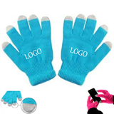 Solid Color Touch Screen Knit Gloves