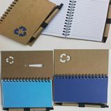 Spiral notebook with matching ballpoint pen