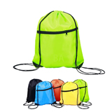 Sports Drawstring Backpack with Zipper