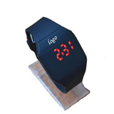 Square LED Silicone Watch