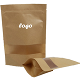 Stand-up Kraft Bag With Transparent Window