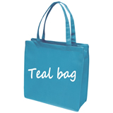 Teal Non woven celebration tote