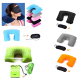 Travel Pillow Kit With Ear Plugs & Eye Mask