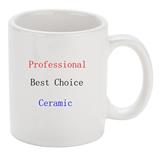 White C-Handle Ceramic Mug
