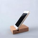 Wooden Block Phone Holder