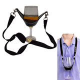 lanyard with wine holder